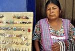 Oaxaca Indian woman jewelry street vendor