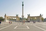 Budapest Heroes Square with Millenial Column at center