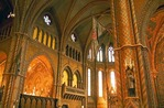 Interior of Buda Castle District's Matthias Church (Church of Our Lady, Coronation Church) on Budapest's Castle Hill