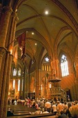 Interior of Buda Castle District's Matthias Church (Church of Our Lady