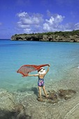 Curacao's Playa Abou beach.  MODEL RELEASED
