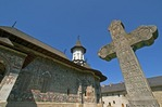 Sucevita Painted Monastery of Bucovina decorated with 16th century religious frescoes