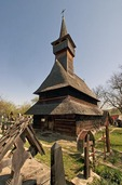 Wooden 14th century Greco-Catholic Church in Ieud, Maramures County of northern Transylvania (Church on the Hill)