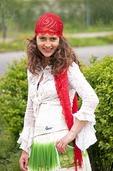 Romanian teenage Gypsy (Roma) girl at Prejmer in Transylvania