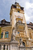 Romania's Peles Castle built in 19th century at Sinaia in Wallachia, most famous royal residence in country, contains casino