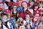 "Romanian dolls in souvenir shop at Bran Castle (aka ""Dracula's Castle) in Transylvania"