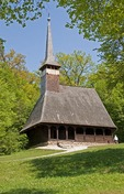 Romania's Museum of Traditional Folk Civilization wooden church from Bezdad, Salaj region, at Sibiu in Transylvania