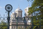 Romania's Monastery of Curtea de Arges, wrought iron fence 