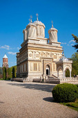 Romania's Monastery of Curtea de Arges resembling a mausoleum in Byzantine style with Moorish arabesques