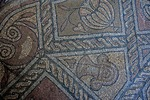 Romania's Constanta Roman Mosaics, section of floor from Roman edifice at Ovidiu Square