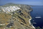 Santorini's town of Fira (Thira)