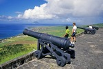 Brimstone Hill Fortress on Saint Kitts looking toward Saint Eustatius