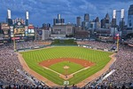 Detroit Tigers host Seattle Mariners at in night game at Comerica Park in Detroit
