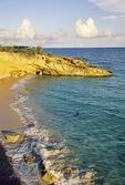 Sint Maarten's Cupecoy Beach