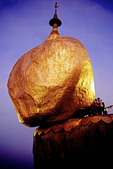 Myanmar's Golden Rock Buddhist pilgrimage site at Kyaikhtiyo