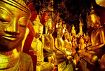 Myanmar: Some of the nearly 9000 Buddha statues in the Pindaya Caves, Pindaya, Shan State