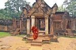 Cambodia's Banteay Srei temple ruins in Angkor complex
