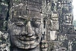 Cambodia's Bayon Temple Sis stone faces of Boddhisattva