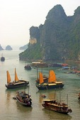 Vietnam's Halong Bay tourist junks