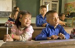 Vietnamese elementary students in poor rural school near Sa Pa in northern hill tribe area of country