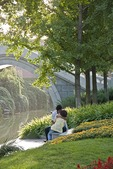 Beijing's Chang Pu River Park with its arched stone bridges is a quiet space near Tian An Men Square