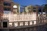 Beijing's upscale Solana Lifestyle Shopping Park musical fountain
