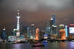 Shanghai's Pudong skyline at night
