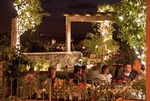 San Miguel de Allende rooftop terrace dining in evening