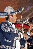 Guadalajara Mariachi musician in traditional Jalisco folk costume