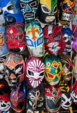Lucha Libre masks for Mexican professional wrestling at Mercado San Juan de Dios in downtown Guadalajara
