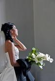 Guadalajara bride waiting for groom at Government Palace (Palacio de Gobierno)