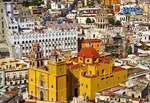 Basilica of Our Lady of Guanajuato and university area overview