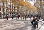 Las Ramblas in Barcelona in autumn