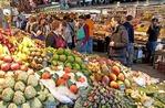Barcelona's Mercat de Sant Josep de la Boqueria central public market near Las Ramblas