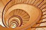 Spiral stairwell in Astoria Hotel in Barcelona