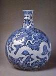 Porcelain flask, Ming dynasty