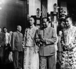 Mao Zedong with Dalai Lama and Panchen Lama during 1954 meeting