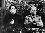 Mao Zedong with Stalin in Moscow, December 21, 1949