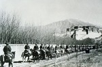 Chinese People's Liberation Army entering Lhasa, Tibet, in 1951