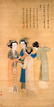 Palace Ladies of the State of Shu, scroll painting by Tang Yin (1470-1523)
