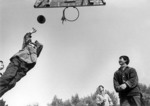 #32 Middle School students in Nanjing playing basketball in 1981 when slogan of
