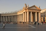 St. Peter's Square with Saint Statues on the Colonnade