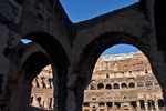 Arches in the Colosseum in Rome