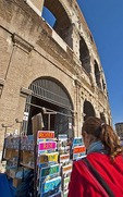 Souvenir stand at the Colosseum in Rome
