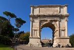 Arch of Titus on the Via Sacra to the Roman Forum in Rome