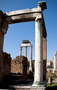 Roman Forum temple ruins in Rome