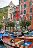 Cinque Terre National Park, boats at Vernazza waterfront