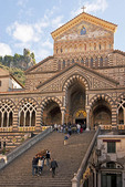 Amalfi Cathedral of Saint Andrew (Duomo di San Andreas) during funeral