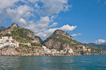 Amalfi Coast at village of Atrani