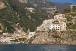 Amalfi Coast at village of Amalfi